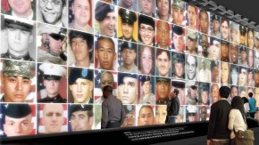 "Fallen heroes from the wars in Iraq and Afghanistan will be displayed on the two story ""Wall of Faces"" in the soon to be built Education Center at The Wall"