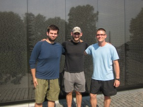Graham Martin, Zach Day and Mark Hafemann at The Wall.