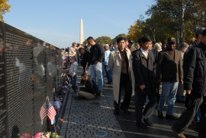 Veterans Day at The Wall 2007. Photo by Bill Petros.