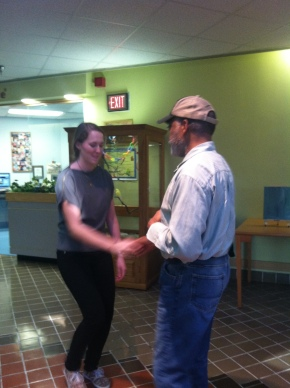 VVMF staffer Annette swing dances with a veteran!