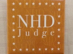 NHD Judge badge