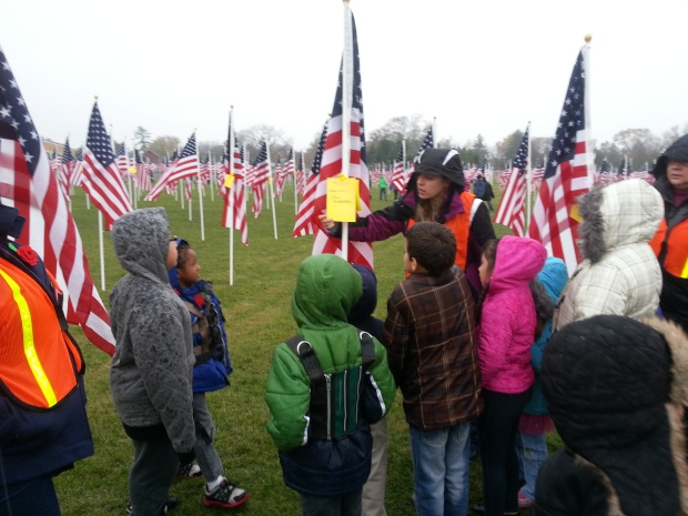 Students visit the Healing Field