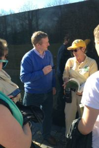 Kenny with volunteer Jeri McMahon