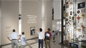 "Rendering of the ""Coming Home"" exhibit of the Center."
