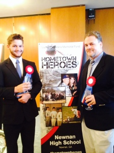 Stephen and Tyler showcasing their project at our Hometown Heroes Launch event.
