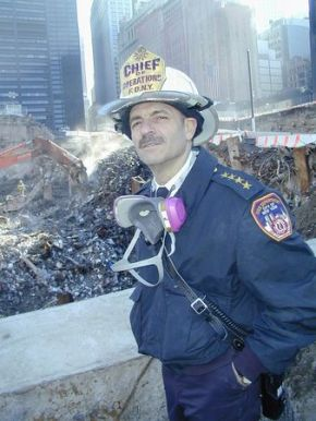 Cassano at Ground Zero. Photo Credit FDNY
