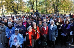 Women who served in Vietnam, including nurses, and women who serve today join at The Vietnam Women's Memorial during its 20th anniversary. Veterans Day, 2013.