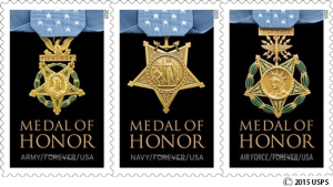 The United State Postal Service's 2015 Medal of Honor: Vietnam Forever® stamps.