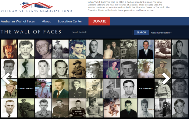 Australian Wall of Faces launches in honor of the 521 Australians who made the ultimate sacrifice during the Vietnam War.