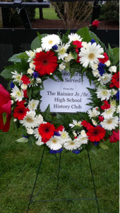 A gift of remembrance placed at the Wall That Heals by the Rainier Jr./Sr. High School History Club.