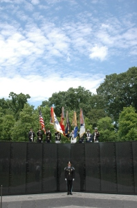 Presentation of Colors at the annual Memorial Day Ceremony at The Wall