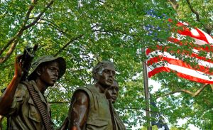 The Three Servicemen Statue. Photo/ Dan Arant
