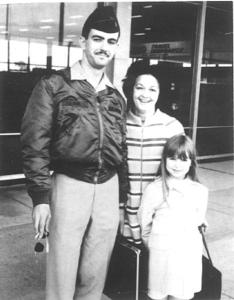 David Kink, with his family, his younger sister Julie on the right.