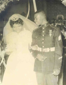 Oliver C. Stamps on his wedding day before his death in Vietnam in 1970.