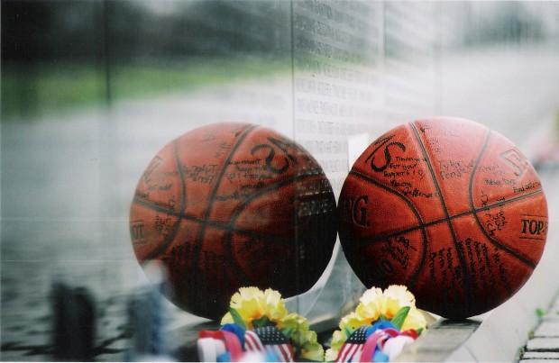 Basketball left at Wall Arant