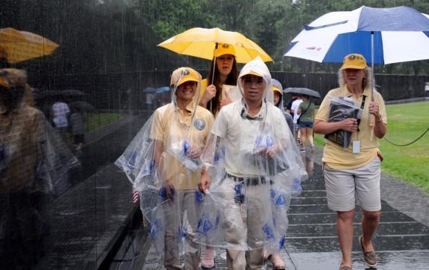 Volunteers in Rain - Dan Arant
