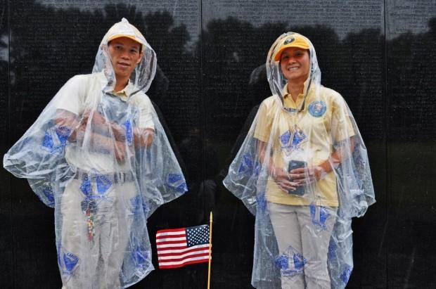 Wall Volunteers in Rain - Dan Arant