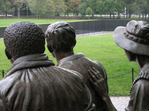 7-11 3 soldiers looking toward Wall Leroy Lawson